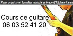 Stéphane Ramin Cours de guitare vendée, maine et loire loire atlantique